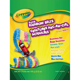 Crayola Sour Rainbow Belts - 100g