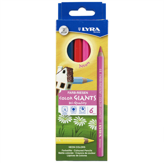 Lyra Colour Giants Pencils - Neon - 6 pack