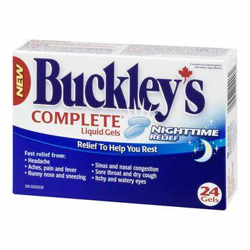 Buckley's Complete Liquid Gels Nighttime Relief - 24's