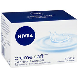 Nivea Creme Soft Care Soap - 4 x 100g