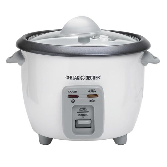 Black & Decker 6 cup Rice Cooker and Steamer - White - RC3406/C