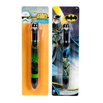 6 Color Licensed Pen - Assorted