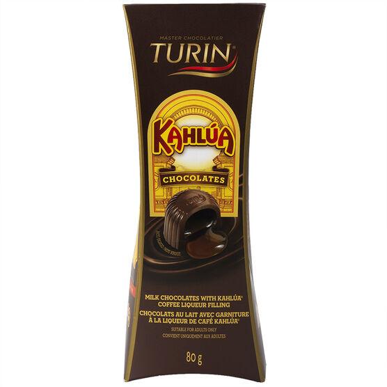 Turin Milk Chocolates with Kahlua Liquer Filling - 80g