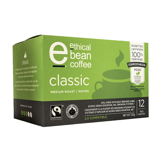 Ethical Bean Coffee - Classic - Medium Roast - 12 Servings