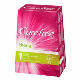 Carefree Thong Pantiliner - Unscented - 49's