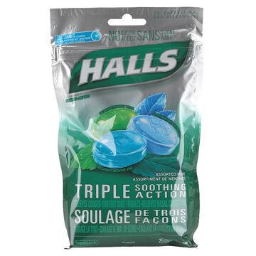 Halls Sucrose Free - Assorted Mint Flavours - 25's