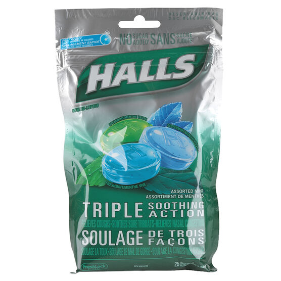 Halls Sucrose Free - Assorted Mint Flavours - 25's