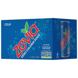 Zevia Soda - Cola - 6 x 355ml