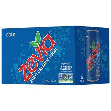Zevia Soda - Cola - 6 x 355ml