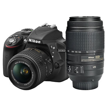 Nikon D3300 with 18-55mm VR II Lens and 55-300mm VR Lens