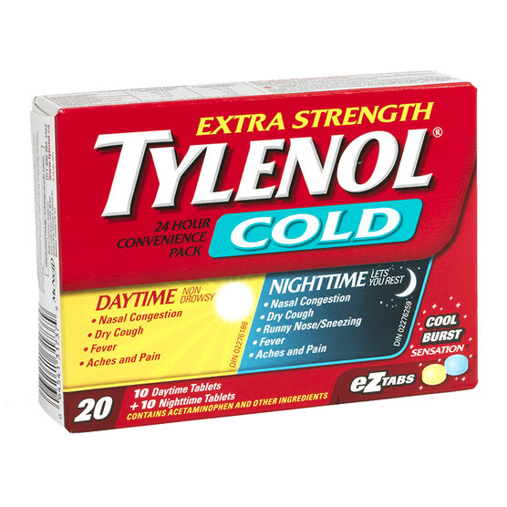 Tylenol* Cold 24 hour Convenience Pack - 10+10's