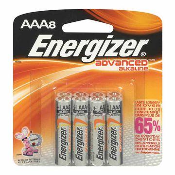 Energizer Advanced Alkaline AAA Batteries - 8 pack