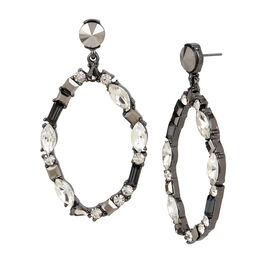 Kenneth Cole Oval Hoop Earrings - Multi
