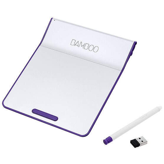 Wacom Bamboo Pad Wireless Tablet with Pressure-Sensitive Stylus - Purple - CTH300U