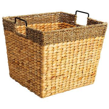 London Drugs Water Hyacinth Square Basket - Large