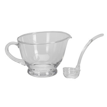 London Drugs Glass Gravy Bowl with Ladle - 24oz
