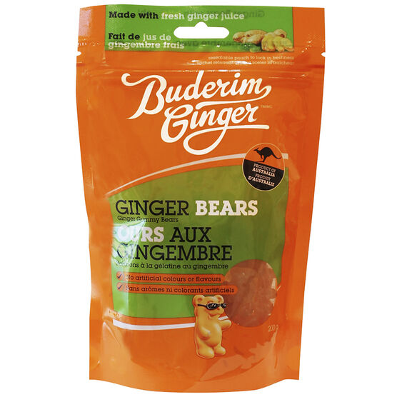 Buderim Ginger Gummy Bears - 200g