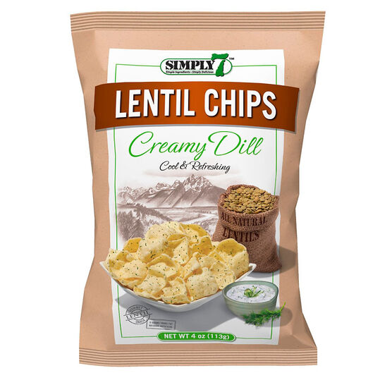 Simply 7 Lentil Chips - Creamy Dill - 113g