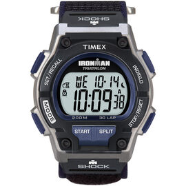 Timex Ironman Triathlon 30 Lap Shock-Resistant Watch - Silver/Dark Blue - 5K198