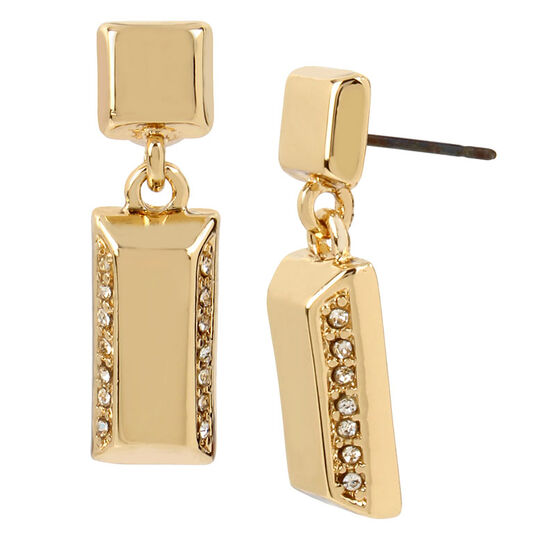Kenneth Cole Crystal Drop Earring - Gold