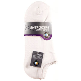 Energizers Massaging Sole Ladies Sport Socks - 2 pairs - White