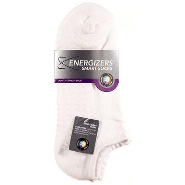 Energizers Massaging Sole Ladies Sport Socks - 2 pairs - White
