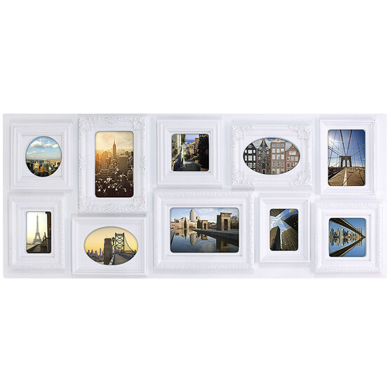 KG Sophia 10 Opening Collage Frame - White - 13x31""