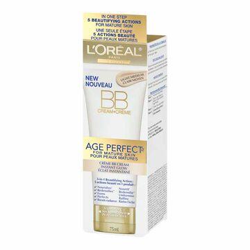 L'Oreal Age Perfect BB Cream - Light/Medium - 75ml