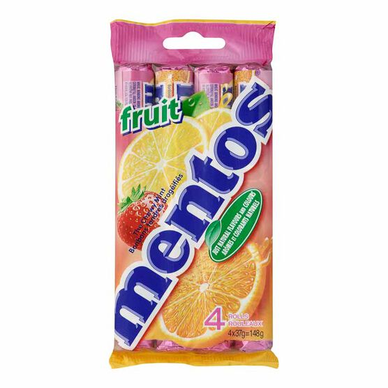 Mentos - Mixed Fruit - 4 pack