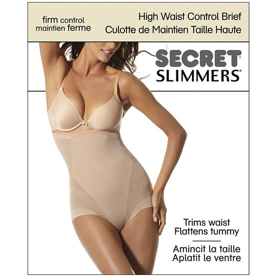 Secret Slimmers High Waist Control Brief - Large - Black