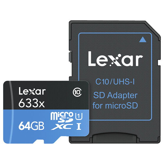 Lexar 633X microSDXC Card - 64 GB - LSDMI64GBBNL633A