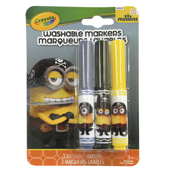 Crayola Minions Washable Markers - Eye Matie - 3 pack