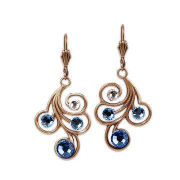 Anne Koplik Blue Swirl Drop Earrings