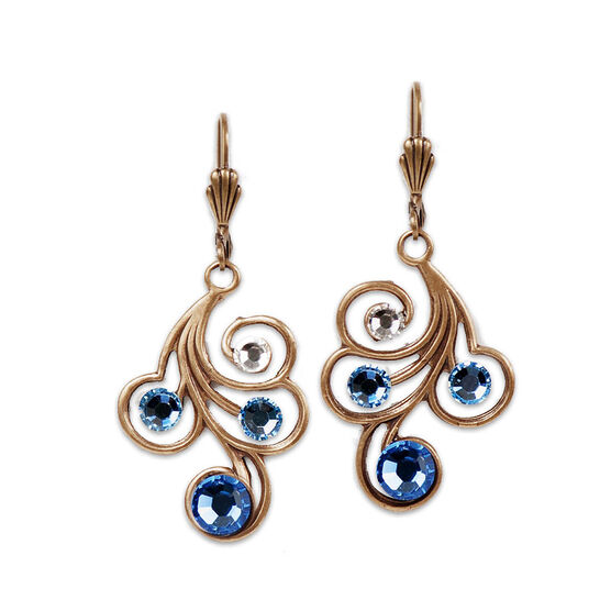 Anne Koplik Blue Swirl Drop Earrings