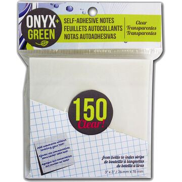 Onyx Green Notes - Clear - 150's