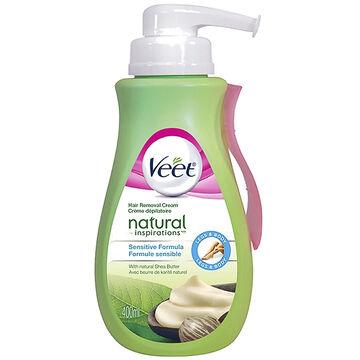 Veet Natural Inspiration Hair Removal Cream - Sensitive Formula - 400ml