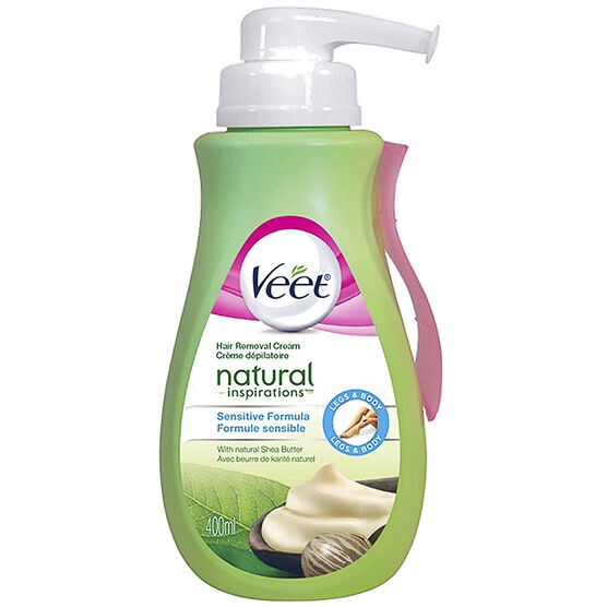 Veet Natural Inspiration Hair Removal Cream - Sensitive Formula - 400ml