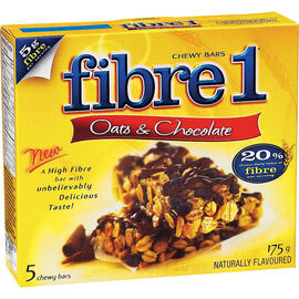 Fibre 1 Oats & Chocolate Bars - 5 pack / 175g