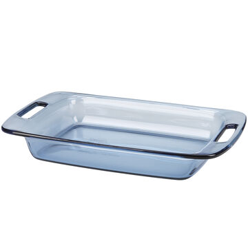 Pyrex Easy Grab Oblong Bakeware - Atlantic Blue - 2.8L