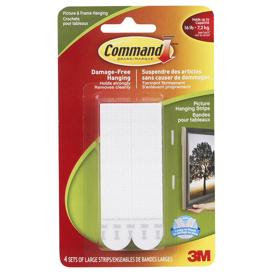 3M Command Damage Free Strips - Large - 4's