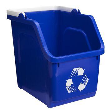 Scepter Recycling Bin - Blue - 25L
