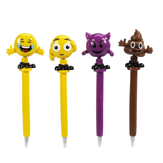 Hand Painted Bobblehead Emoji Pen 2 - Assorted