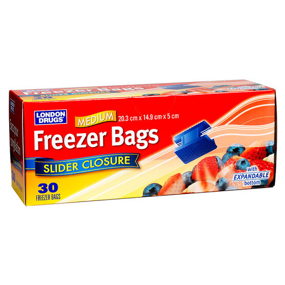 London Drugs Slide Freezer Bags - Medium - 30's