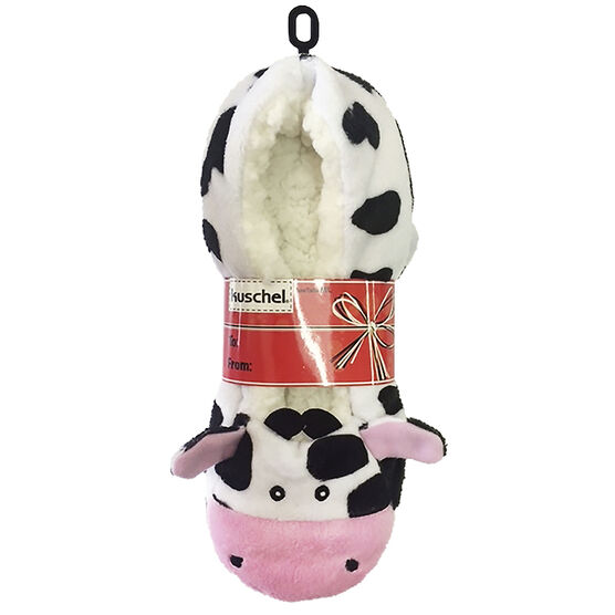 Kuschel Animal Slippers - Cow - Small/Medium