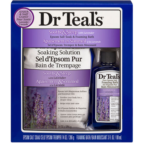 Dr Teal's Relax Epsom Salt & Foaming Bath - Eucalyptus Spearmint - 2 piece