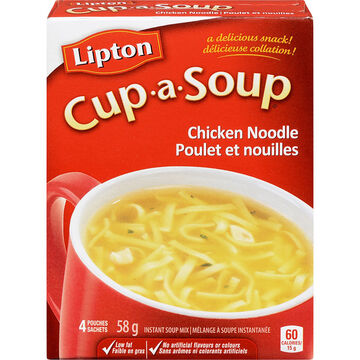 Knorr Lipton Cup-A-Soup Chicken Noodle Soup Mix - 4 pack/58g