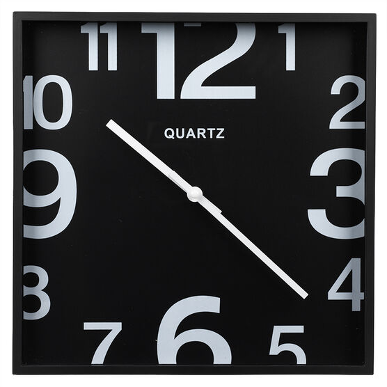 London Drugs Wall Clock - Black - Square