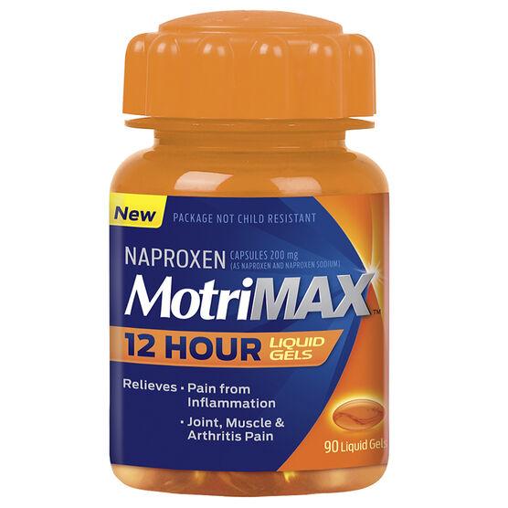 MotriMax Naproxen 12 Hour Liquid Gels - 90's