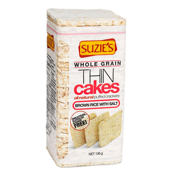 Suzie's Whole Grain Thin Cakes - Brown Rice with Salt - 136g