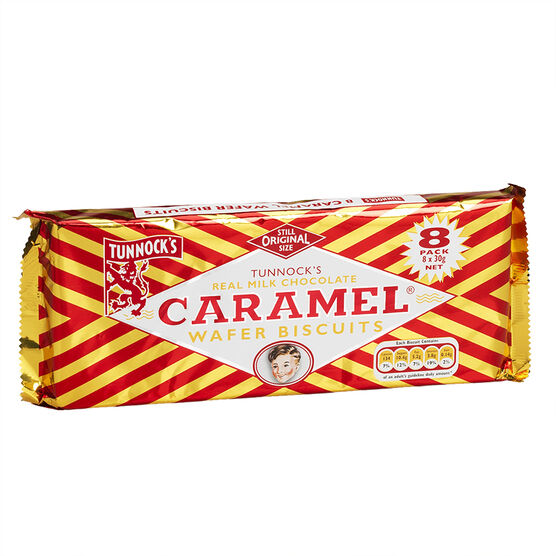 Tunnocks Wafers - Caramel - 8 pack